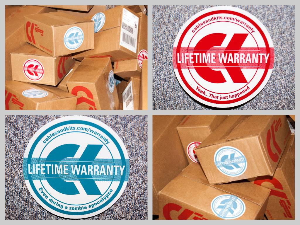 Lifetime Warranty Stickers