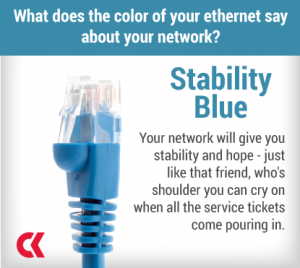 Your network will give you stability and hope - just like that friend, who's shoulder you can cry on when all the service tickets come pouring in.