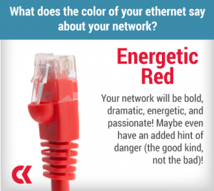 Your network will be bold, dramatic, energetic, and passionate! Maybe even have an added hint of danger (the good kind, not the bad)!