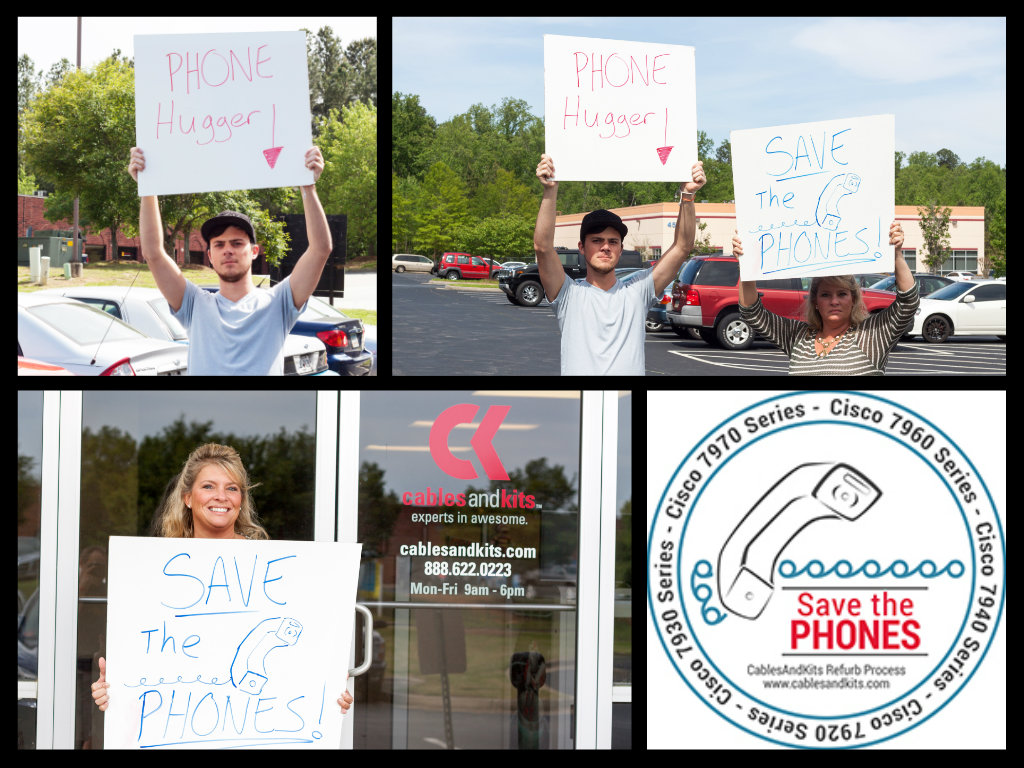 Save the Phones Signs
