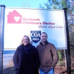 Dianne and Jonathan at Gwinnett Children's Shelter