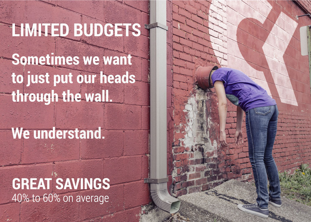 Limited Budgets - Great Savings - Head In Wall